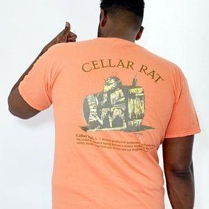 Cellar Rat Wine Graphic Tee Neon Orange